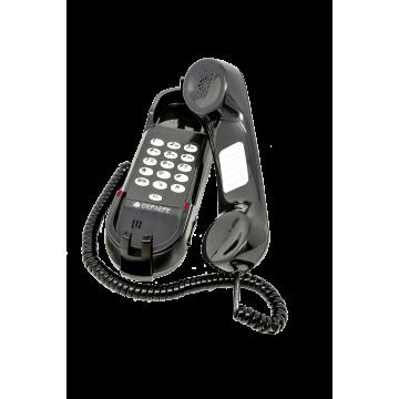 Teléfono de emergencia analógico negro HD2000 Teclado abierto
