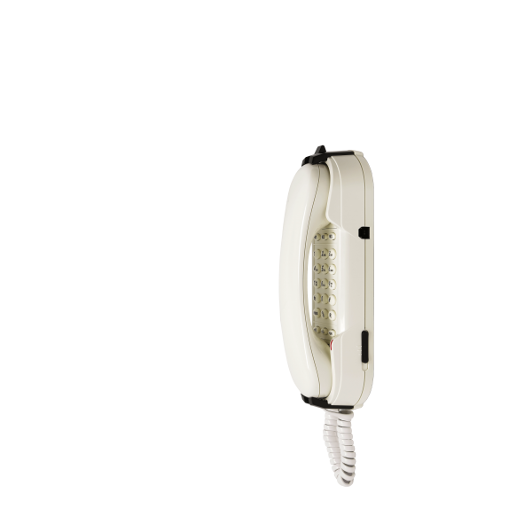 Téléphone d'urgence HD2000 analogique blanc Clavier Ampli 3 mémoires fermé