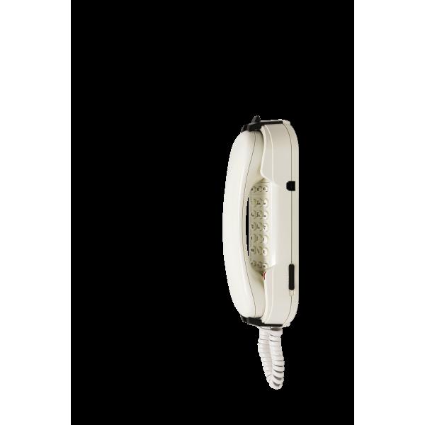 Telefone de emergência HD2000 analógico branco Teclado Ampli 3 memórias fechado