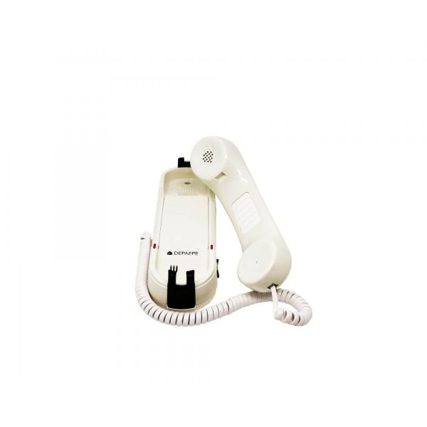 Téléphone d'urgence HD2000 analogique blanc sans Clavier ouvert