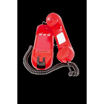 Red analogue emergency telephone HD2000 Emergency 3 opened