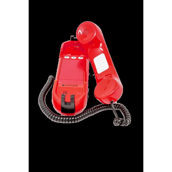Téléphone d'urgence HD2000 analogique rouge urgence 3 ouvert