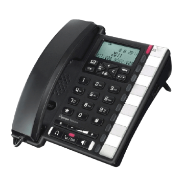 Téléphone de bureau analogique noir haut de gamme complet
