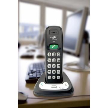 Téléphone sans fil particulièrement simple dans un bureau