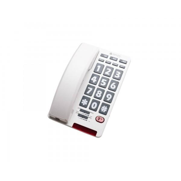 Teléfono analógico con teclas grandes en Braille