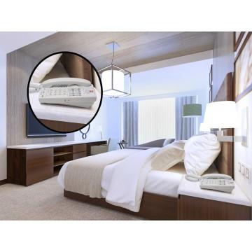 White analog telephone 10 memories for hotel