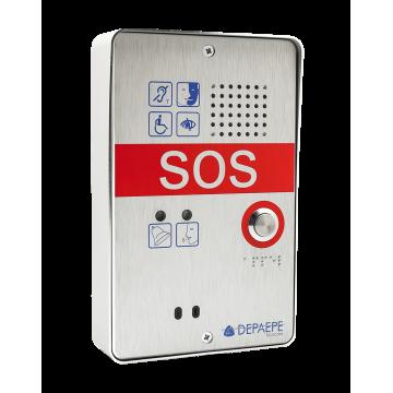 Intercomunicador de llamada de emergencia SOS compacto de 1 botón para áreas de espera seguras