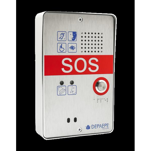 Interphone d'appel d'urgence compact 1 bouton SOS pour les espaces d'attente sécurisés