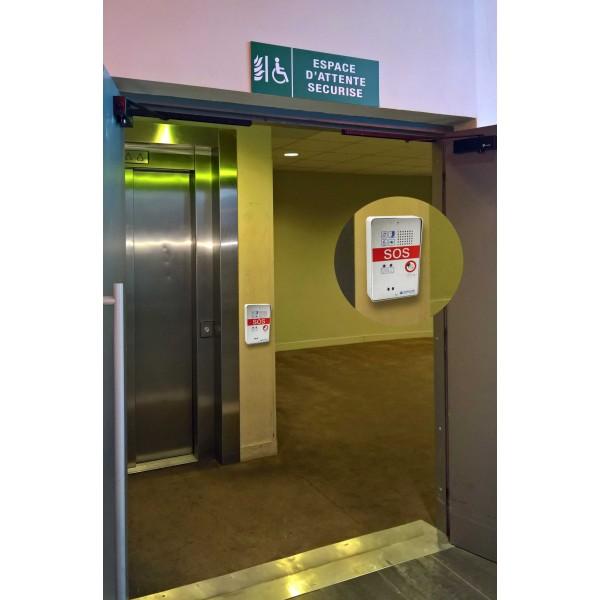 Interphone d'appel d'urgence compact 1 bouton SOS dans un espace d'attente sécurisé