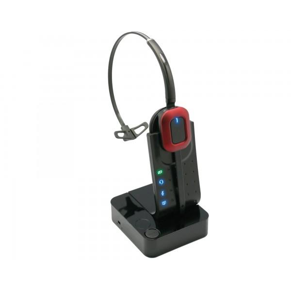 Micro-casque HD robuste et pratique avec 1 écouteur serre-tête et micro directionnel