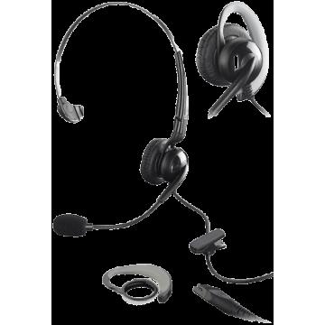 Micro-casque HD avec 1 écouteur serre-tête et micro directionnel