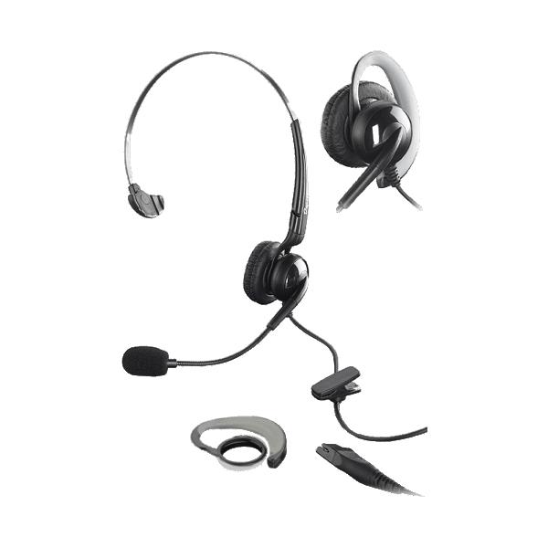 Auscultadores HD com 1 fone de ouvido e microfone direcional