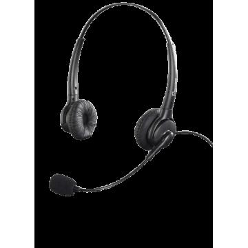 Micro-casque Binaural robuste et pratique avec 2 écouteurs serre-tête et micro directionnel