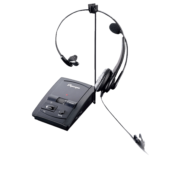 Caja amplificadora de conmutación HD que conecta los auriculares y el microteléfono