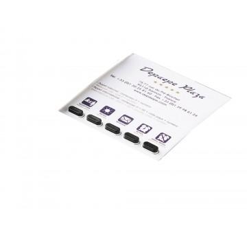 Etiqueta personalizada Boreal 5 ML Hotel com telefone