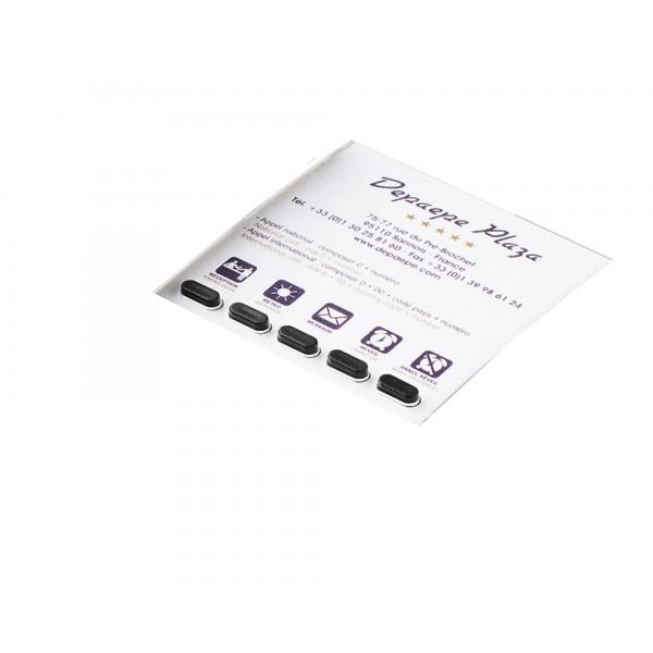 Pacote de 10 etiquetas personalizadas Boreal 5ML Hotel sem telefone