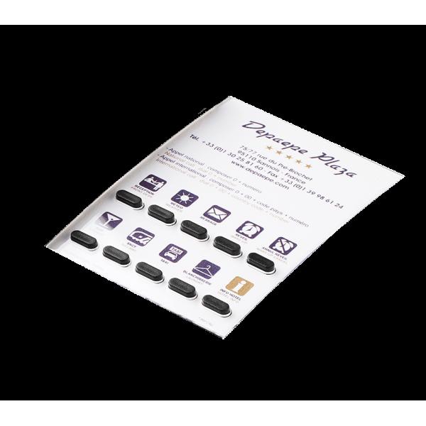 Pacote de 10 etiquetas personalizadas Premium Hotel 10