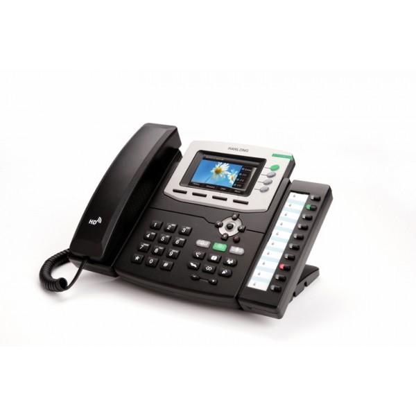 Telefone de escritório SIP de gama inteiramente com ecrã TFT a cores de alta resolução