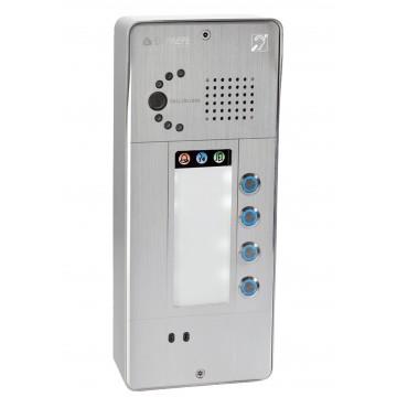 Gray IP intercom 4 buttons