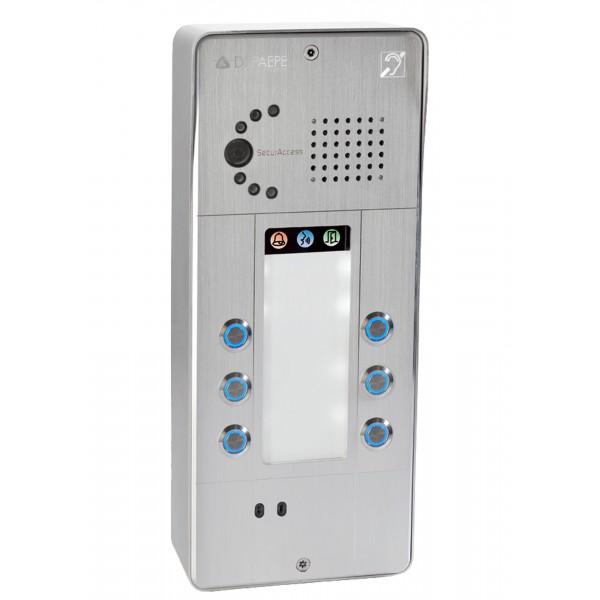 Intercomunicador IP gris 6 botones