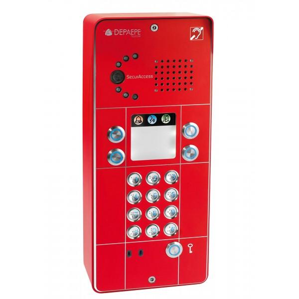 Red 4 buttons keypad IP intercom