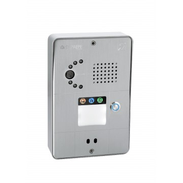 Compact gray IP intercom 1 button