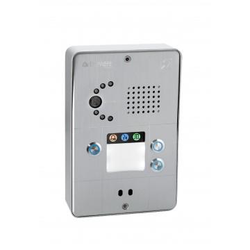 Intercomunicador IP gris compacto 3 botones