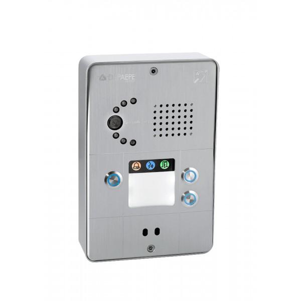 Compact gray IP intercom 3 buttons