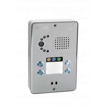 Intercomunicador IP gris compacto 4 botones