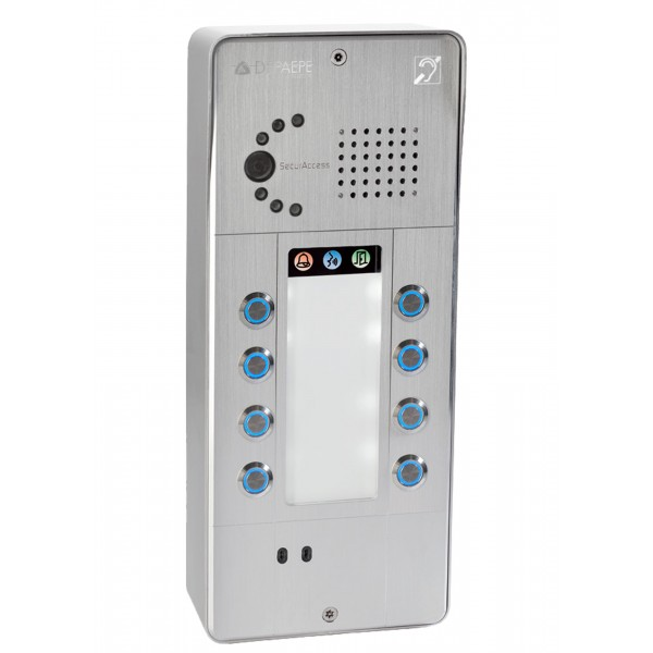 Intercomunicador IP gris 8 botones