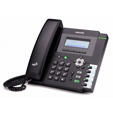 Entry-level IP desk phone with LCD screen