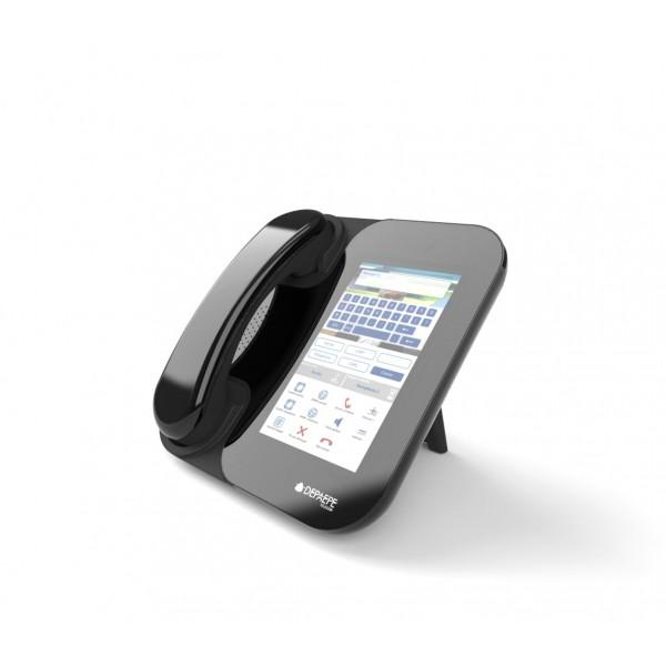 Black SIP videophone HD visio touchscreen