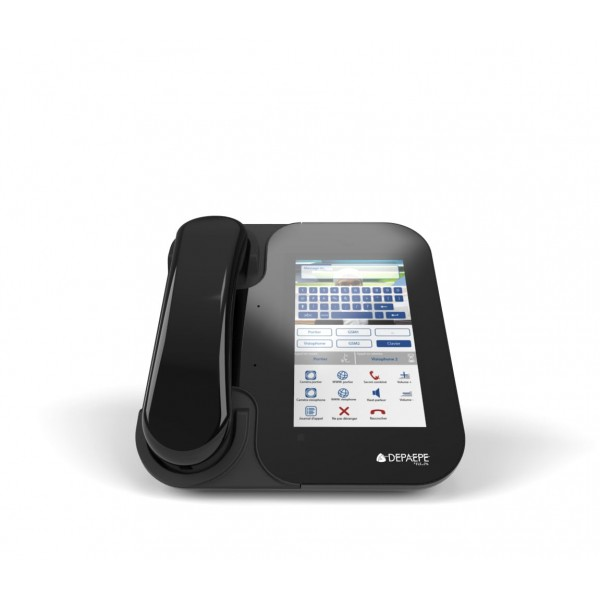 Visiophone SIP noir HD visio écran couleur