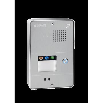 Interfone analógico compacto cinza 1 botão