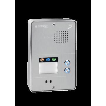 Intercomunicador analógico gris compacto 2 botones