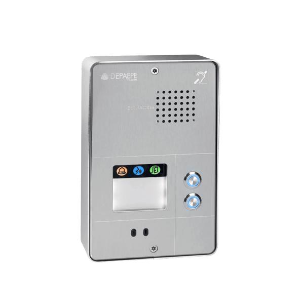Compact gray analog intercom 2 buttons