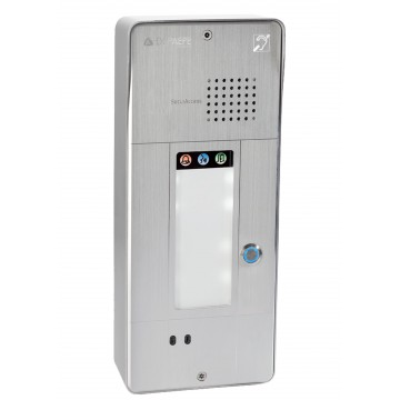 Interphone analogique gris 1 bouton