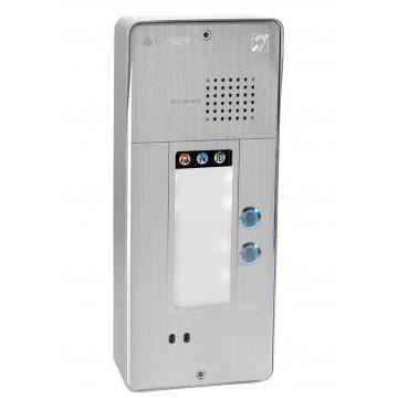 Gray analog intercom 2 buttons