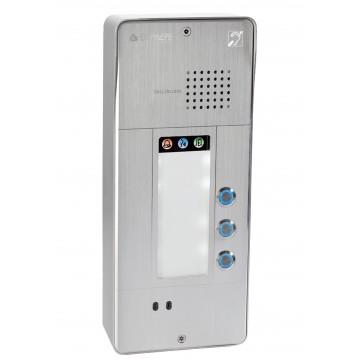 Gray analog intercom 3 buttons