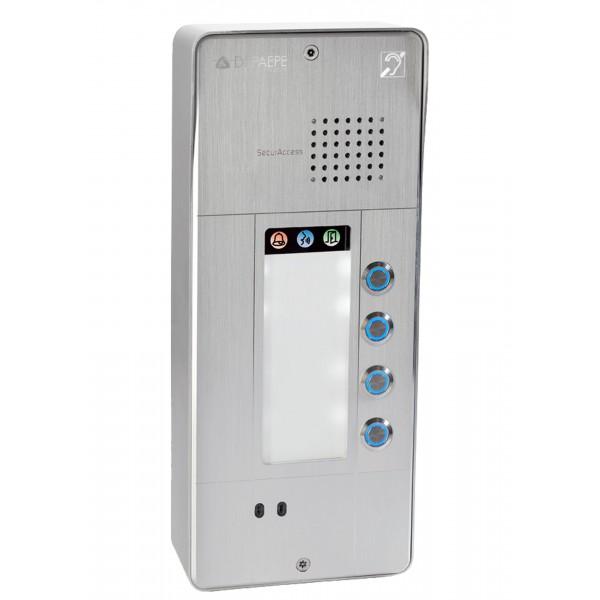 Intercomunicador analógico gris 4 botones