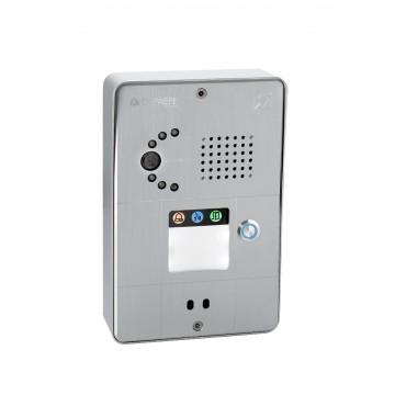 Compact gray analog intercom 1 button analog or IP camera