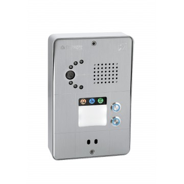 Interphone analogique gris compact 2 boutons caméra analogique ou IP