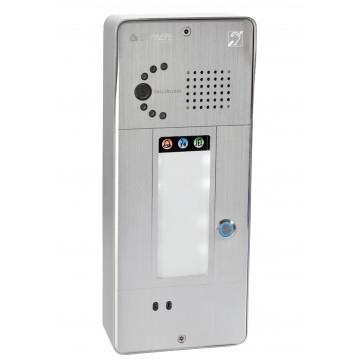 Interphone analogique gris 1 bouton caméra analogique ou IP