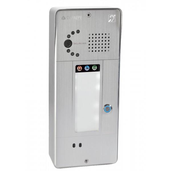 Intercomunicador analógico gris 1 botón cámara analógica o IP