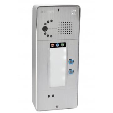 Gray analog intercom 2 buttons analog or IP camera