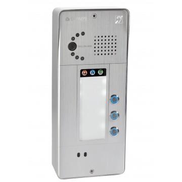 Interfone analógico cinza 3 botões câmara analógica ou IP
