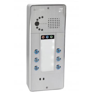 Intercomunicador analógico gris 6 botones cámara analógica o IP