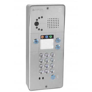 Interfone analógico cinza com teclado 3 botões câmara analógica ou IP